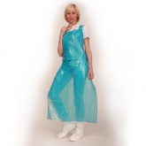 Polyethylene apron with ties 140 x 75 cm, blue Franz Mensch