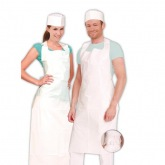 Polyethylene apron with ties 125 x 70 cm, white Franz Mensch