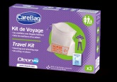Carebag® Travel Kit with Super Absorbent Pad, 3 pcs SAS Cleanis