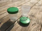 Urine sample container with lid to twist, 100 ml Van Oostveen Medical B.V.