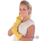 Cleaning gloves BETTINA, PINK, YELLOW, 1 pair